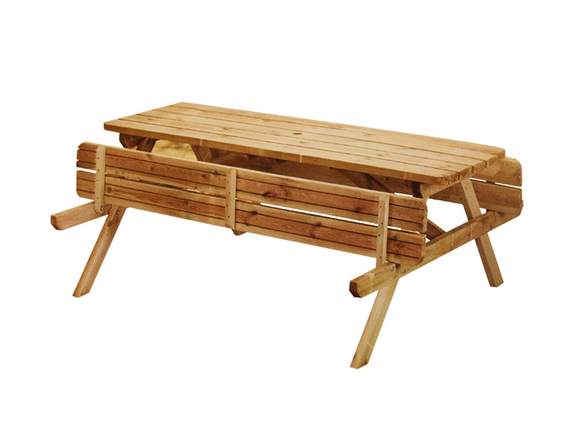 Table De Pique Nique En Bois 180x70 Cm Brun Hubo