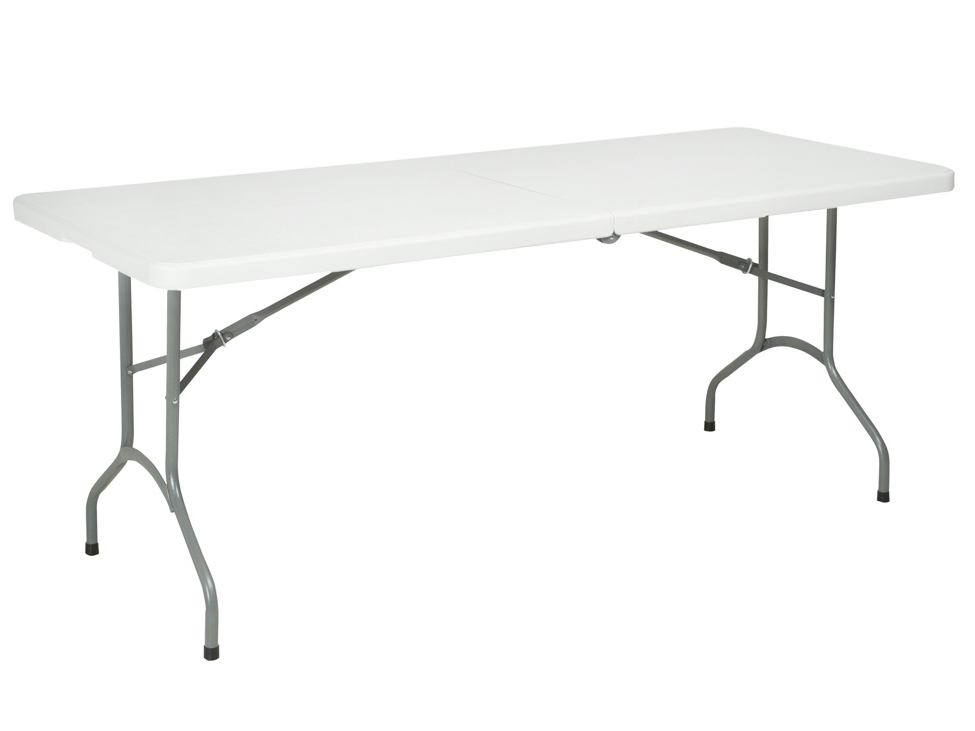 Table pliante 180x74 cm blanc