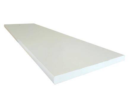 Tablette arrondie 80x30 cm 18mm blanc