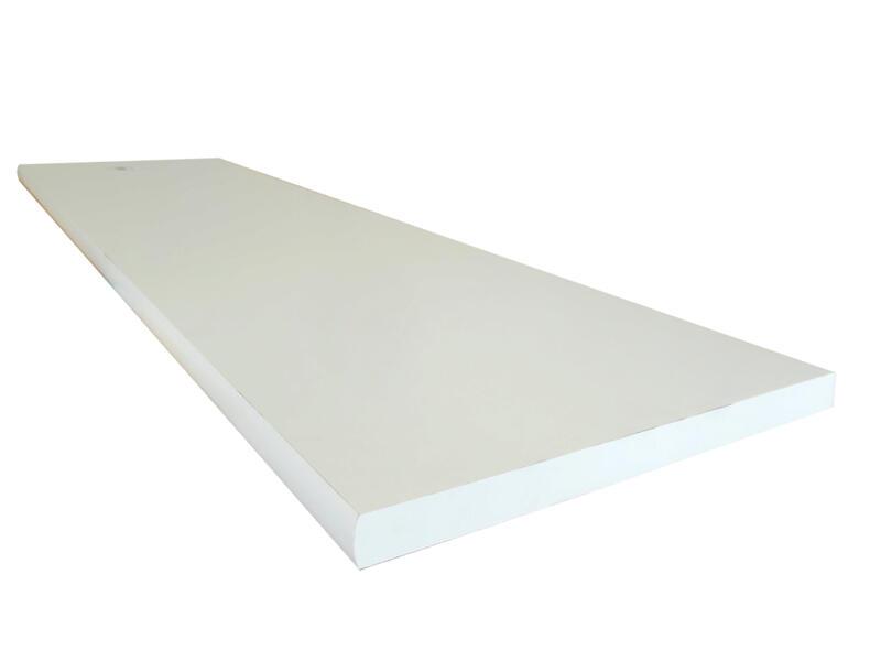 Tablette blanche arrondie 120x60cm 18mm