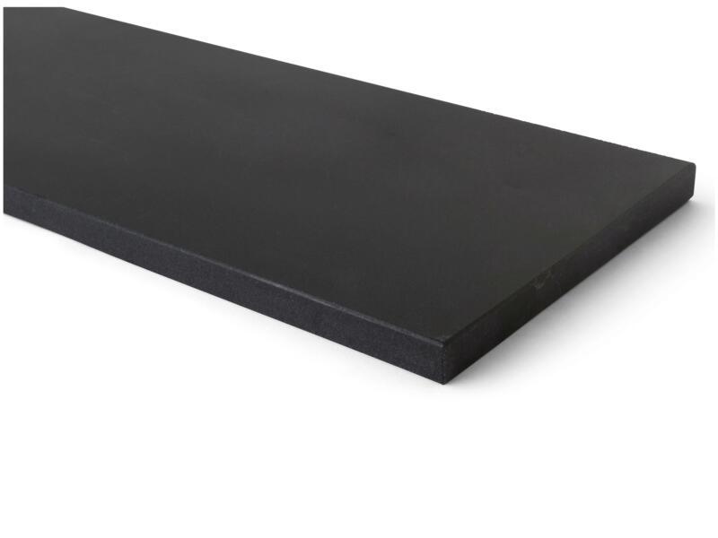 Tablette de fenêtre 101x25x2 cm noir mongolian