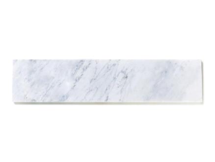 Tablette de fenêtre 126x20x2 cm marbre nordic white