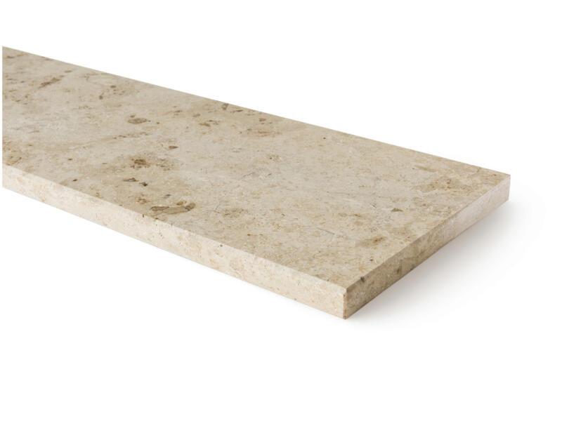 Tablette de fenêtre 126x20x2 cm pierre calcaire du jura