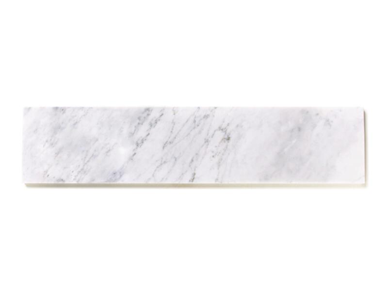 Tablette de fenêtre 126x25x2 cm marbre nordic white