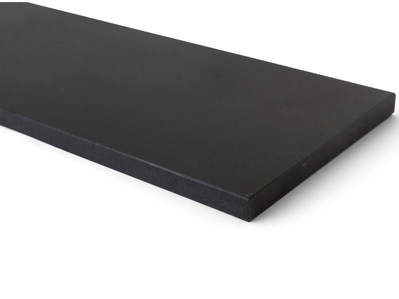 Tablette de fenêtre 126x25x2 cm noir mongolian