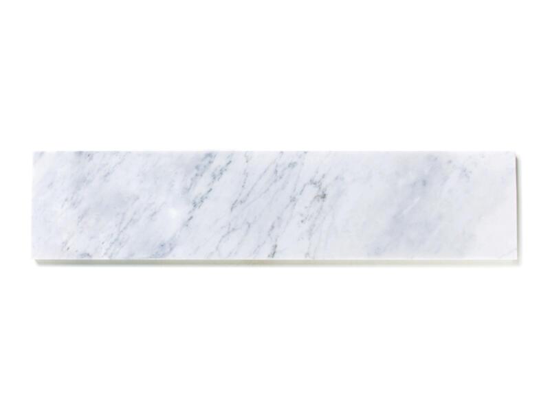 Tablette de fenêtre 151x20x2 cm marbre nordic white