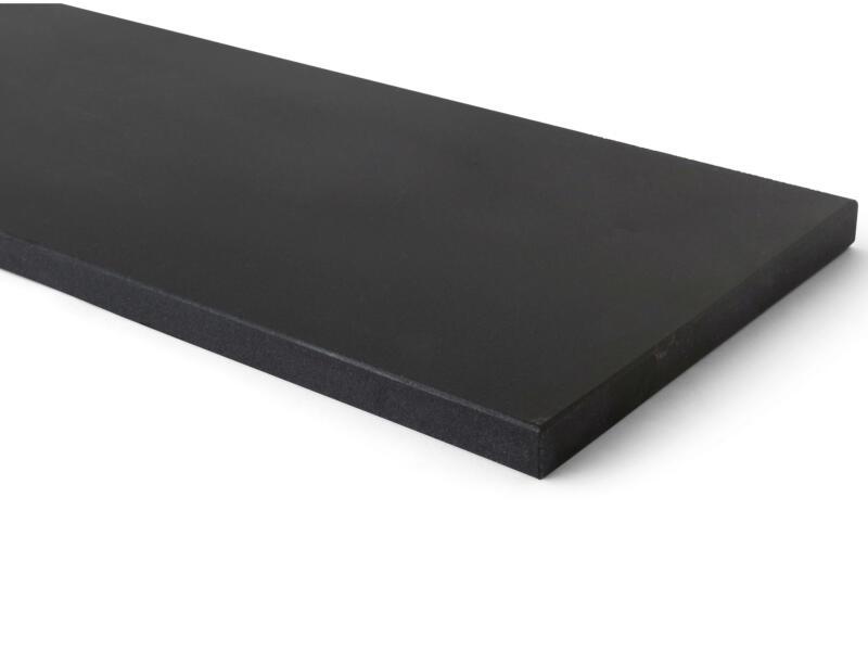 Tablette de fenêtre 151x25x2 cm noir mongolian