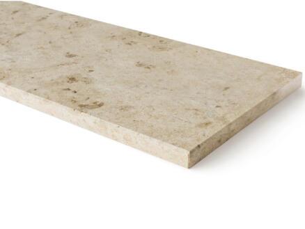 Tablette de fenêtre 151x25x2 cm pierre calcaire du jura