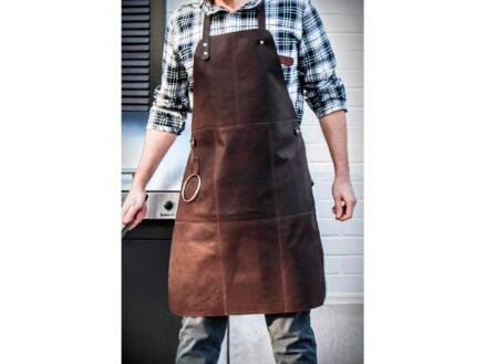 Tablier barbecue cuir