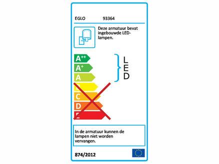 Eglo Tabo LED wandlamp 2x2,5 W inox