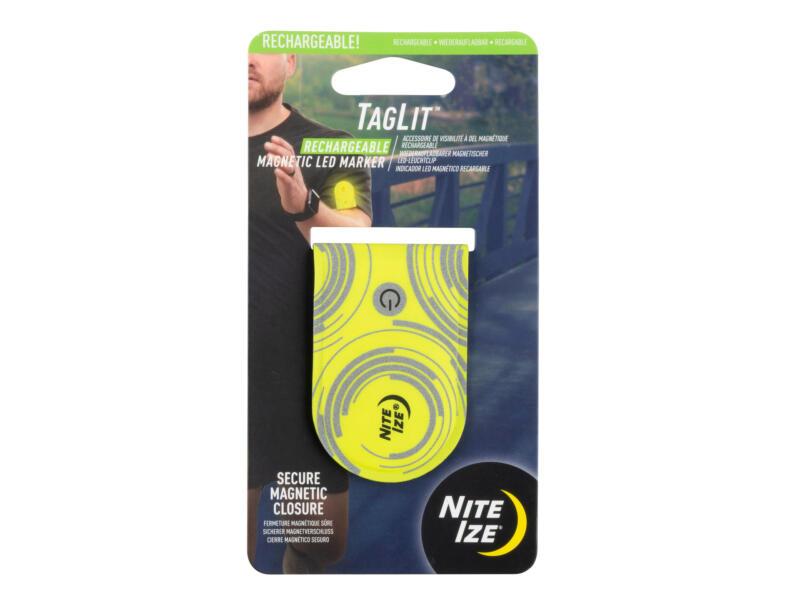 Nite Ize TagLit LED lamp magnetisch geel oplaadbaar