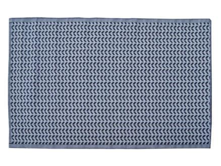Tapis d'extérieur 120x180 cm noir/gris