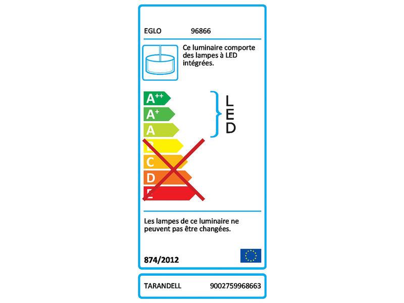Eglo Tarandell suspension LED 2x12,5 W dimmable chrome