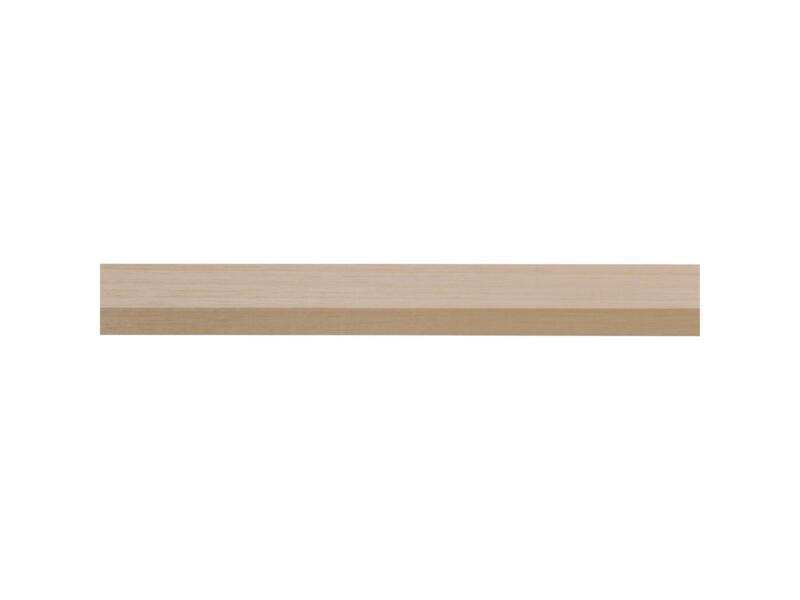 Tasseau raboté bois dur 12x35 mm 240cm blanc