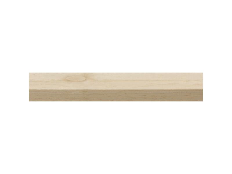 Tasseau raboté bois dur 9x18 mm 240cm blanc
