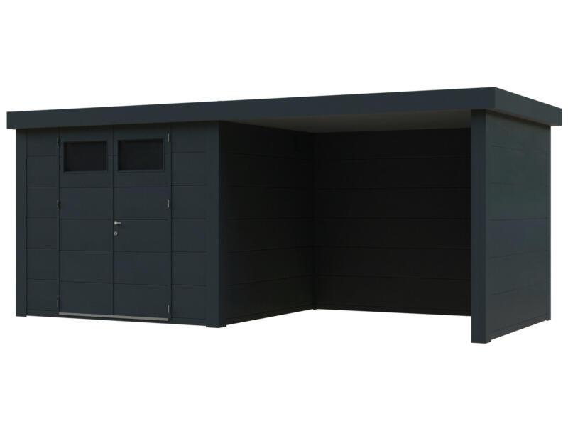 Telluria Eleganto Lounge tuinhuis 270x240 cm metaal antraciet + uitbreiding 280cm