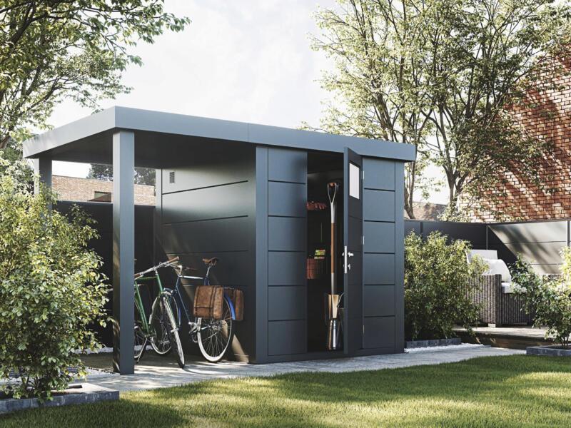 Aquaplan Telluria Eleganto abri de jardin 240x240x219 cm + extension 170cm métal anthracite