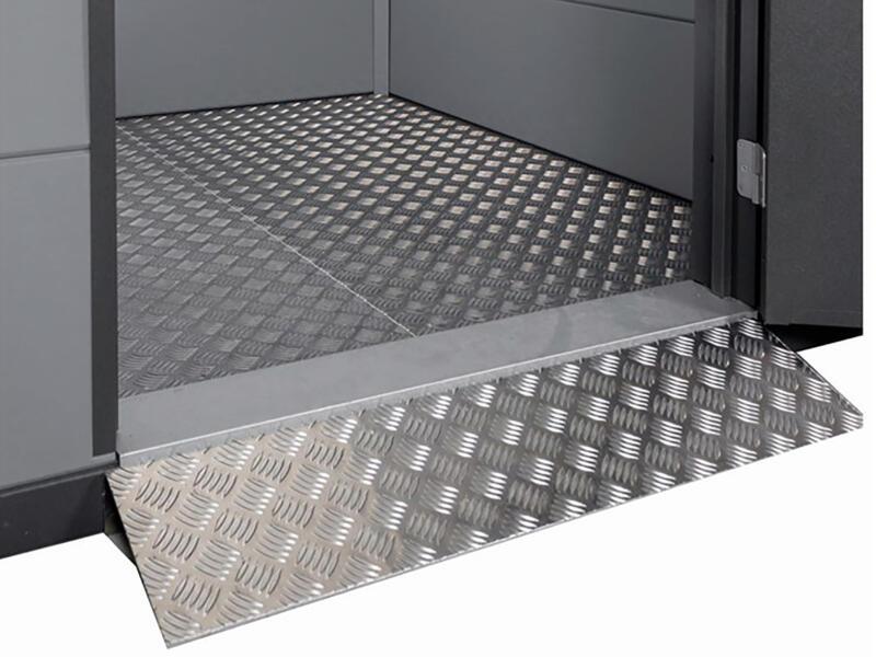 Telluria Eleganto oprijplaat dubbele deur 180cm metaal
