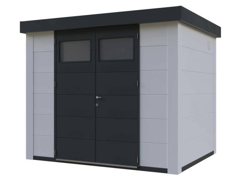 Telluria Eleganto tuinhuis 270x210 cm metaal wit/antraciet
