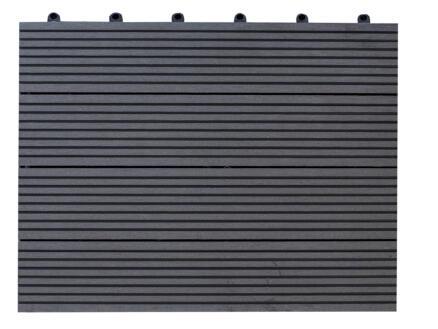 Terrastegel 30x30x2 cm 1m² WPC antraciet 11 stuks