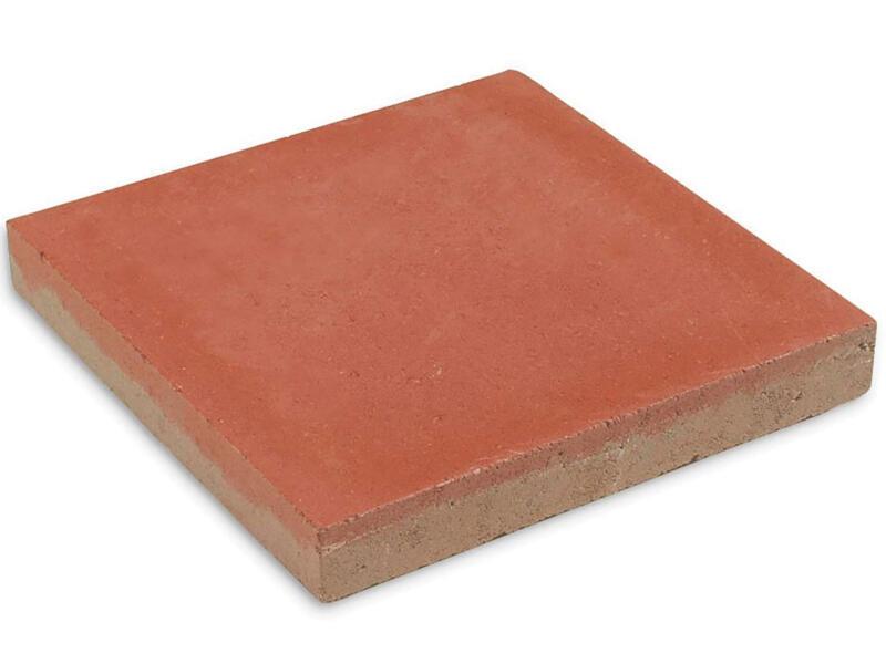 Terrastegel 30x30x4 cm 0,09m² beton rood