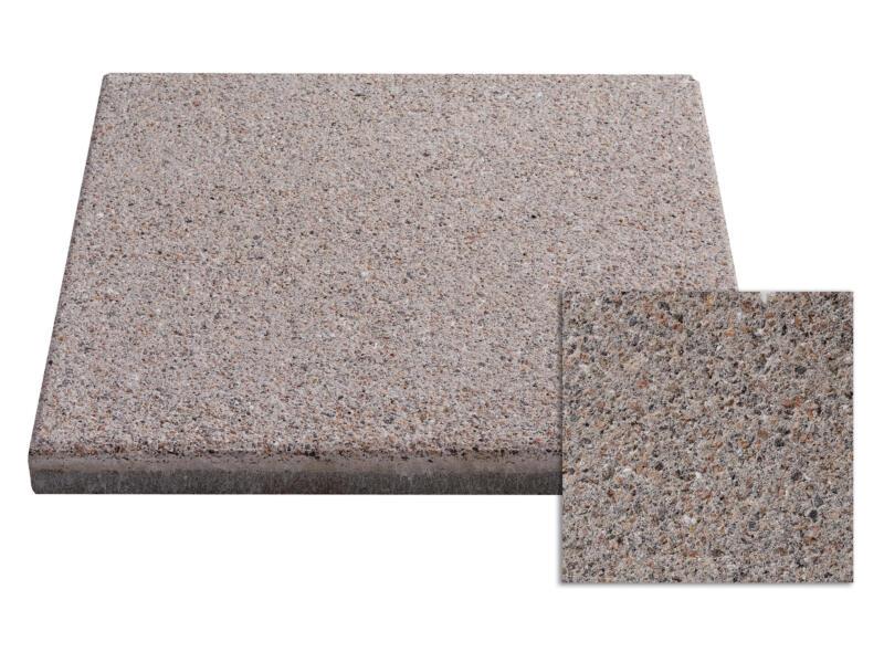 Terrastegel 40x40x3,7 cm 0,16m² beton lichtbruin