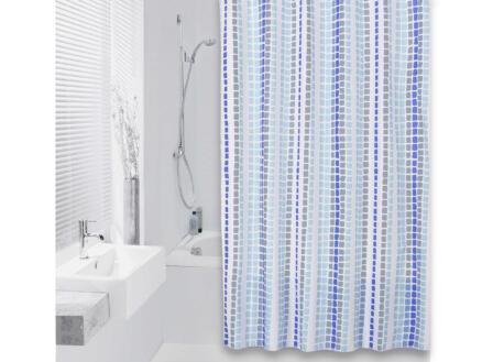 Differnz Tesselo douchegordijn 180x200 cm azuur