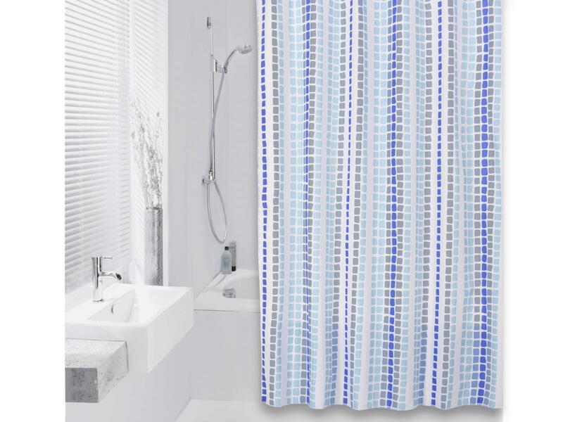 Differnz Tesselo rideau de douche 180x200 cm azur