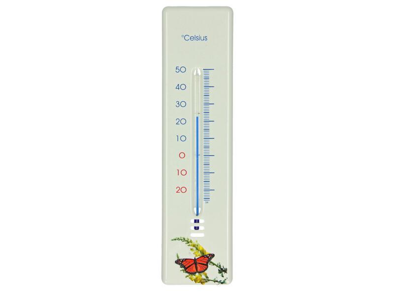Thermomètre 21cm métal papillon