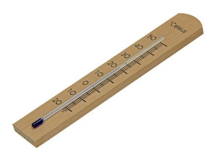 Thermomètre intérieur 8cm hêtre