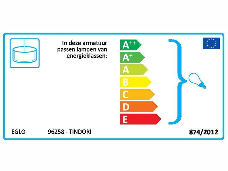 Eglo Tindori hanglamp E27 max. 60W 38cm ahorn