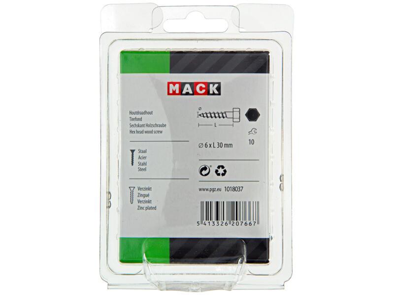 Mack Tire-fond 6x30 mm zingué 40 pièces
