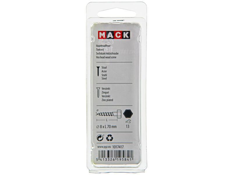Mack Tire-fond 8x70 mm zingué 5 pièces