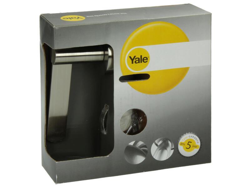 Yale Tiska BB poignée de porte avec rosaces 51mm set complet nickelé mat