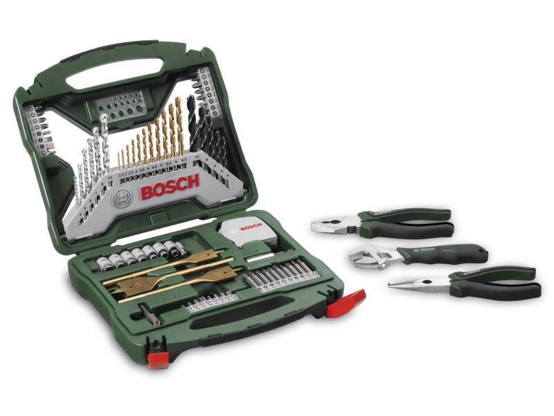 Bosch Titanium X-Line coffret d'accessoires 70 pièces + 3 outils