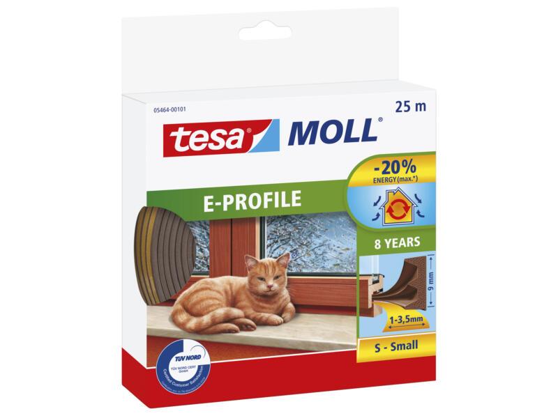 Tesa Tochtstrip E 25m 0,9cm bruin