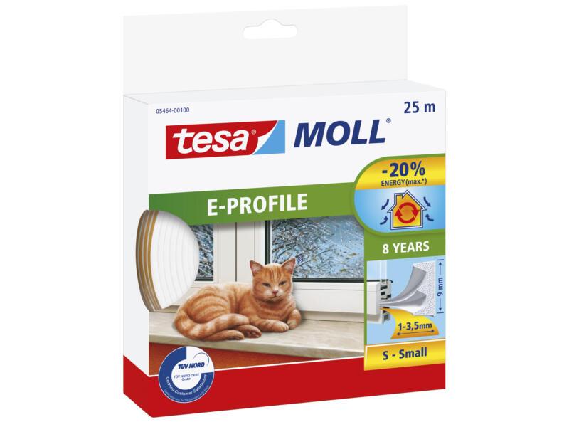 Tesa Tochtstrip E 25m 0,9cm wit