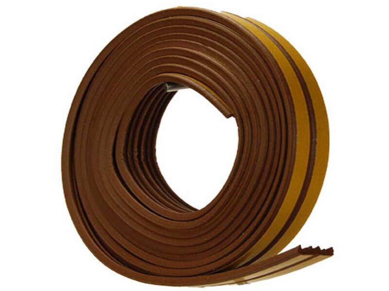 Confortex Tochtstrip E 6m 0,9cm bruin