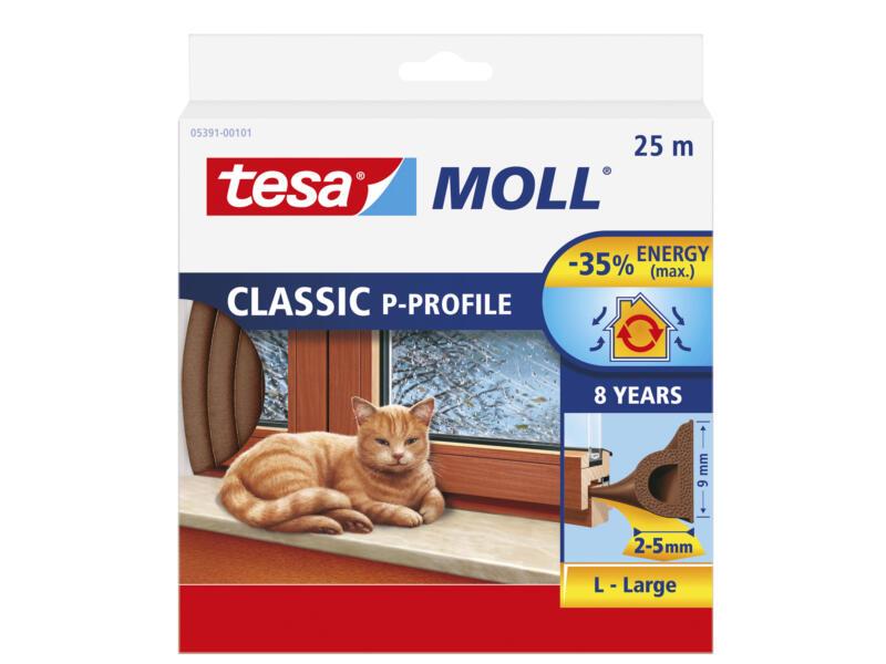 Tesa Tochtstrip P 25m 0,9cm bruin