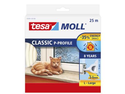 Tesa Tochtstrip P 25m 0,9cm wit