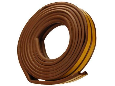 Confortex Tochtstrip P 6m 0,9cm bruin