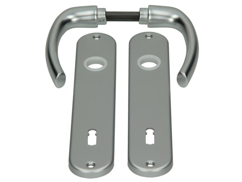 Yale Tokyo BB110 deurklinkset op plaat 42mm aluminium