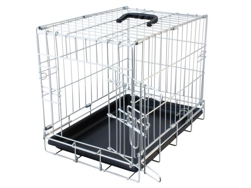 Topline cage pour chien 76x48x54 cm chromé