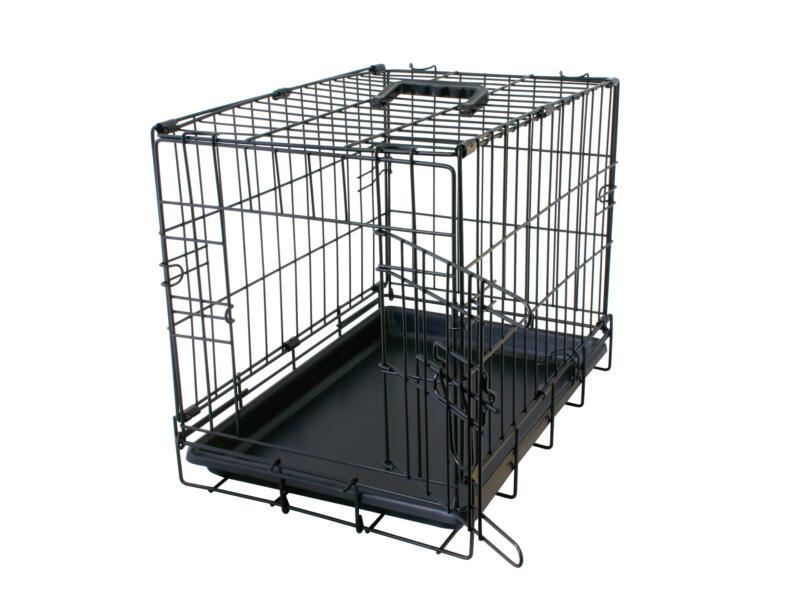 Topline cage pour chien 92x57x64 cm noir