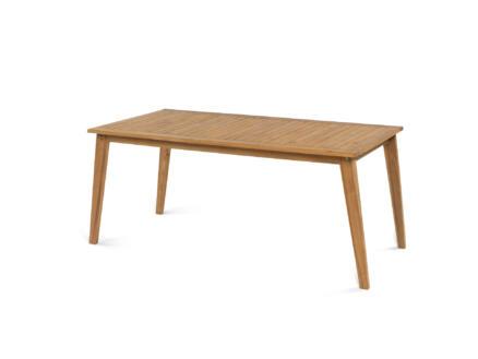 Garden Plus Torta table de jardin 160x90 cm brun