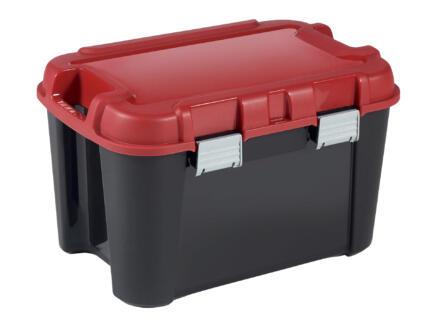 Keter Totem boîte de rangement 60l noir-rouge