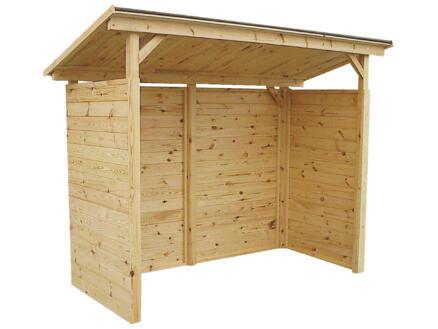 Gardenas Touquet abri ouvert 240x120x210 cm bois