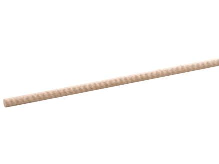 Tourillon cannelé 18mm 100cm hêtre