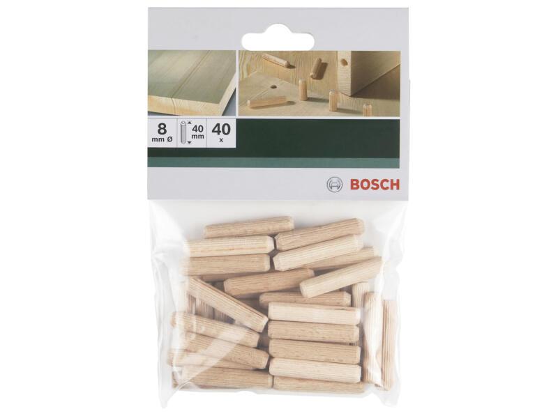 Bosch Tourillons 40x8 mm 40 pièces