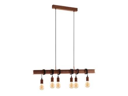 Eglo Townshend hanglamp E27 6x60 W bruin exclusief lampen